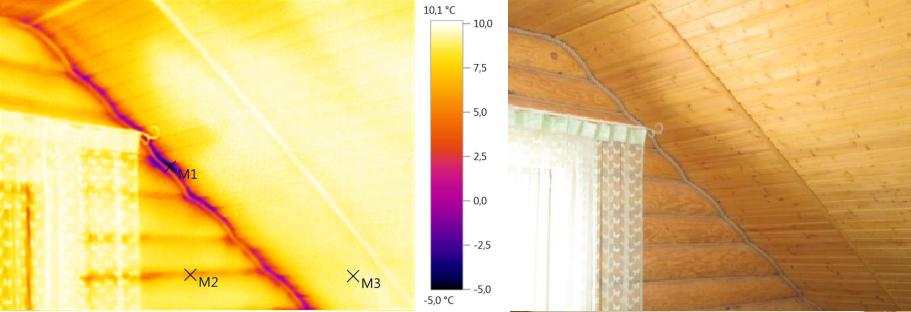 Плохо утеплена крыша, потолок второго этажа